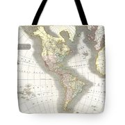 1814 Thomson Map Of North And South America Tote Bag