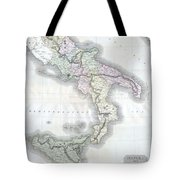 1814 Thomson Map Of Southern Italy Tote Bag