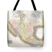 1814 Thomson Map Of Texas Mexico  Louisiana Tote Bag