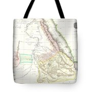 1818 Pinkerton Map Of Abyssinia  Ethiopia  Sudan And Nubia Tote Bag