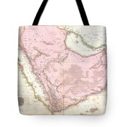 1818 Pinkerton Map Of Arabia And The Persian Gulf Tote Bag