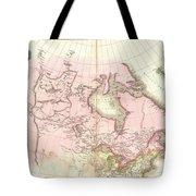 1818 Pinkerton Map Of British North America Or Canada Tote Bag