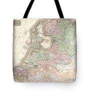 1818 Pinkerton Map Of Holland Or The Netherlands Tote Bag