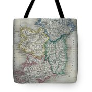 1822 Butler Map Of Ireland Tote Bag