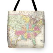 1823 Melish Map Of The United States Of America Tote Bag