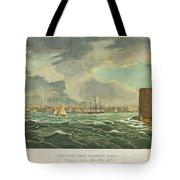 1825 Wall And Hill View Of New York City From The Hudson River Port Folio Tote Bag
