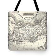 1826 Assheton Map Of Russia In Asia Tote Bag