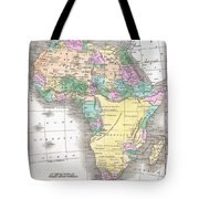1827 Finley Map Of Africa Tote Bag