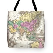 1827 Finley Map Of Asia And Australia Tote Bag