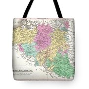 1827 Finley Map Of Belgium And Luxembourg Tote Bag