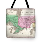 1827 Finley Map Of Canada  Tote Bag