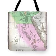 1827 Finley Map Of Egypt Tote Bag