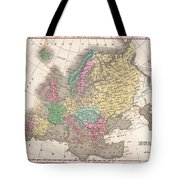 1827 Finley Map Of Europe Tote Bag