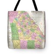 1827 Finley Map Of Georgia Tote Bag