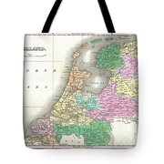 1827 Finley Map Of Holland Or The Netherlands Tote Bag