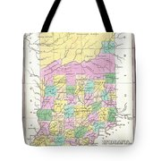 1827 Finley Map Of Indiana Tote Bag