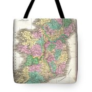 1827 Finley Map Of Ireland  Tote Bag