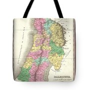 1827 Finley Map Of Israel  Palestine Holy Land Tote Bag