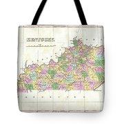 1827 Finley Map Of Kentucky Tote Bag