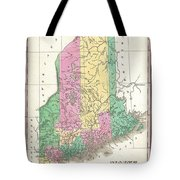 1827 Finley Map Of Maine Tote Bag