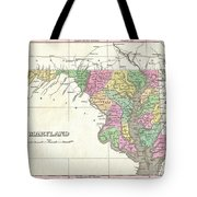 1827 Finley Map Of Maryland Tote Bag