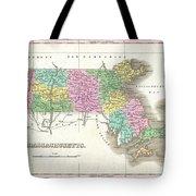 1827 Finley Map Of Massachusetts Tote Bag