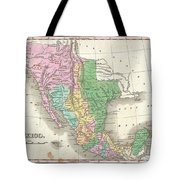 1827 Finley Map Of Mexico Upper California And Texas Tote Bag