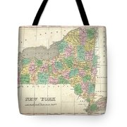 1827 Finley Map Of New York State Tote Bag