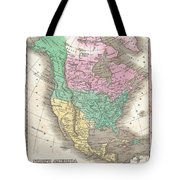 1827 Finley Map Of North America Tote Bag