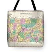 1827 Finley Map Of Pennsylvania Tote Bag
