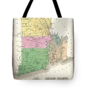 1827 Finley Map Of Rhode Island Tote Bag