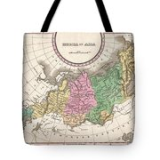 1827 Finley Map Of Russia In Asia Tote Bag