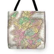 1827 Finley Map Of Scotland Tote Bag
