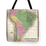 1827 Finley Map Of South America Tote Bag