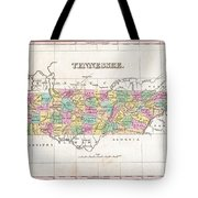 1827 Finley Map Of Tennessee Tote Bag
