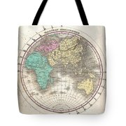 1827 Finley Map Of The Eastern Hemisphere  Tote Bag