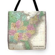 1827 Finley Map Of The United States Tote Bag