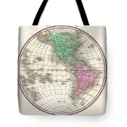 1827 Finley Map Of The Western Hemisphere Tote Bag