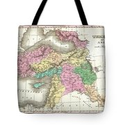 1827 Finley Map Of Turkey In Asia Iraq And Israel Tote Bag