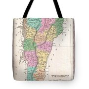 1827 Finley Map Of Vermont Tote Bag