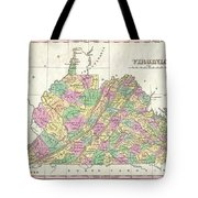 1827 Finley Map Of Virginia Tote Bag
