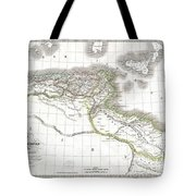 1829 Lapie Historical Map Of Empire Of Carthage Tote Bag