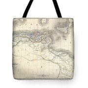 1829 Lapie Historical Map Of The Barbary Coast In Ancient Roman Times Tote Bag
