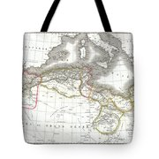 1829 Lapie Map Of The Eastern Mediterranean Morocco And The Barbary Coast Tote Bag