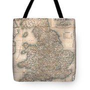 1830 Pigot Pocket Map Of England And Wales Tote Bag
