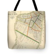 1831 Hooker Map Of New York City Tote Bag