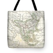 1832 Delamarche Map Of Greece And The Balkans Tote Bag
