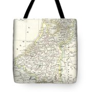1832 Delamarche Map Of Holland And Belgium Tote Bag