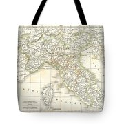 1832 Delamarche Map Of Northern Italy And Corsica Tote Bag