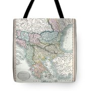 1836 Cary Map Of Greece And The Balkans Tote Bag